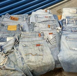 LOT sale Desinger Jeans Diesel Paul Smith Seven